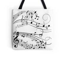 Musical Wind Tote Bag