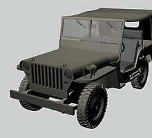 Gray Willys MB Jeep by Mythos57