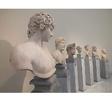 Hellenistic busts Photographic Print