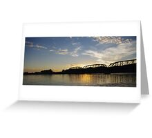 Old Milwaukee Bridge at Sunset Greeting Card