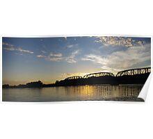 Old Milwaukee Bridge at Sunset Poster