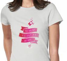 valentinstag meine liebe pink band der liebe herzen schmetterling Womens Fitted T-Shirt