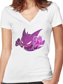 Haunter texture Women's Fitted V-Neck T-Shirt
