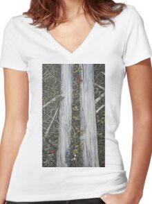 Runes of nature Women's Fitted V-Neck T-Shirt