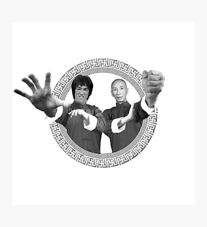 Bruce Lee & Ip Man - Grandmaster Duo Mono Photographic Print