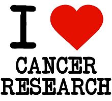 I Love Cancer Research Photographic Print