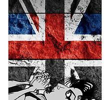Amy Winehouse Abstract Flag by Jason westwood