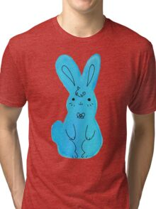 Blue Bunny Watercolor Tri-blend T-Shirt