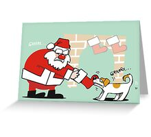 Xmas tug of war Greeting Card