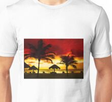 Sunset over Playa del Carmen, MEXICO Unisex T-Shirt