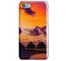 Breathtaking sunset in the Maldives iPhone Case/Skin