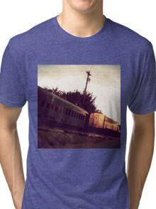 Train Tracks_Orange Tri-blend T-Shirt