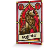 Stained Glass Series - Gryffindor Greeting Card