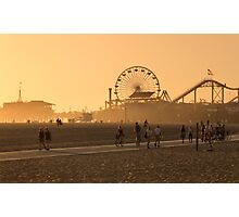 Sunset, Santa Monica, Los Angeles, California, United States of America. Photographic Print