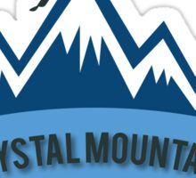 Crystal Mountain Skiing Sticker