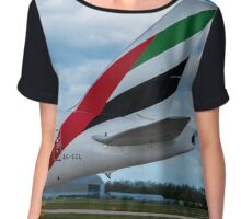 Emirates Airlines Boeing 777 tail livery Chiffon Top