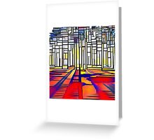 Abstract land scape, contemporary,geometric,art,colorful Greeting Card