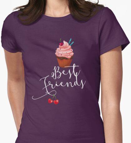 cupcakes best friends food, sweet, schokolade, torte, obst, süßes Womens Fitted T-Shirt