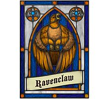 Stained Glass Series - Ravenclaw Photographic Print