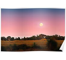 Moonrise At Dusk  Poster