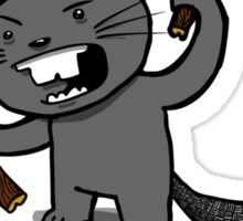 Angry Beaver Sticker