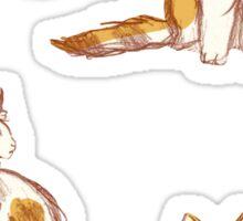 Cute Fluffy Cats Sticker