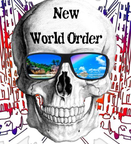 Calavera  nuevo orden mundial  Sticker