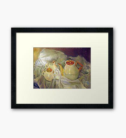 Ivory Tea Framed Print