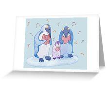 Penguin carols Greeting Card