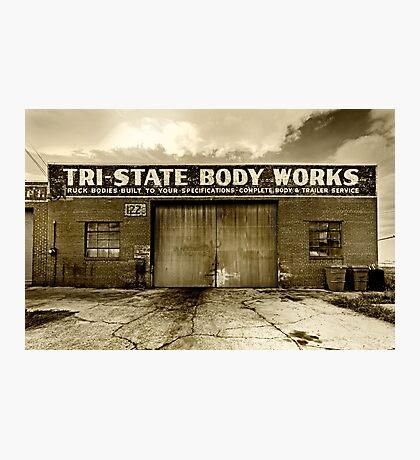 Tri-State Motors - Sepia Photographic Print