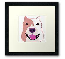 Happy  Bulldog Art for Kids Framed Print