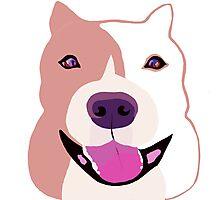 Happy  Bulldog Art for Kids Photographic Print
