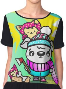 Ollie Outdoorsy Dog and Friends Chiffon Top