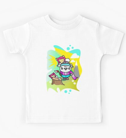 Ollie Outdoorsy Dog and Friends Kids Tee