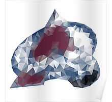 Colorado Avalance Triangles Poster