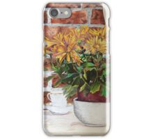 pencil coloured flowers iPhone Case/Skin