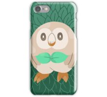 Rowlet Grass Flying Pokemon Starter iPhone Case/Skin