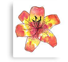 Watercolor Tiger Lily Canvas Print