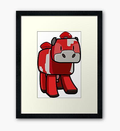 Minecraft Mooshroom Framed Print