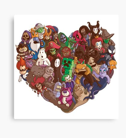 Villains Need Love Canvas Print