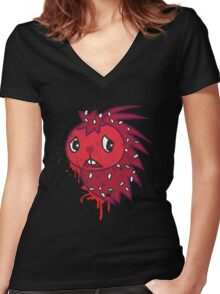 Flaky Women's Fitted V-Neck T-Shirt