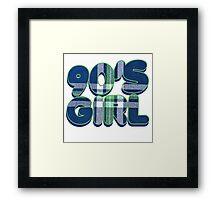 90s Girl Framed Print