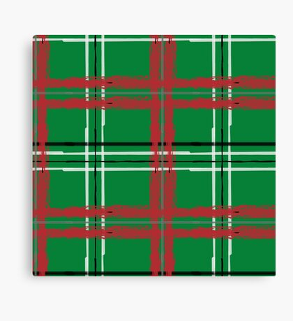 Artist Plaid_ Red and Green Canvas Print