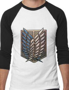 Attack On Titan Symbol Logo Men's Baseball ¾ T-Shirt
