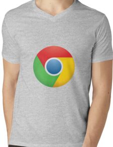 Chrome logo Mens V-Neck T-Shirt
