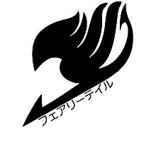 Fairy tail logo (Black) Photographic Print