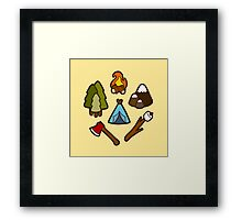 Camping is cool Framed Print