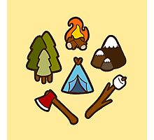 Camping is cool Photographic Print
