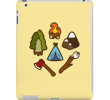 Camping is cool iPad Case/Skin
