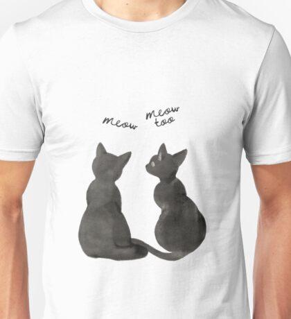 Black cats, meow,  Unisex T-Shirt